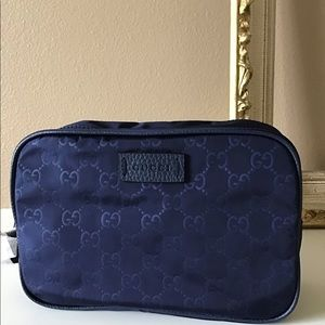 Gucci Toiletries cosmetic Bag.